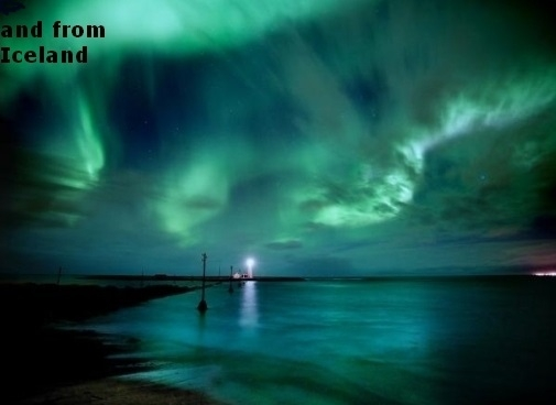 aurora borealis or northern lights - Iceland